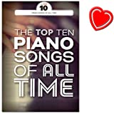 the top ten piano songs of all time songbook pour piano chant et guitare elton john david bowie adele etc piano based pop songs avec coeur note color?e pince
