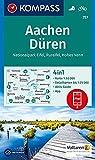 Aachen, Düren, Nationalpark Eifel, Rureifel, Hohes Venn: 4in1 Wanderkarte 1:50000 mit Aktiv Guide und Detailkarten inklusive Karte zur offline ... (KOMPASS-Wanderkarten, Band 757)