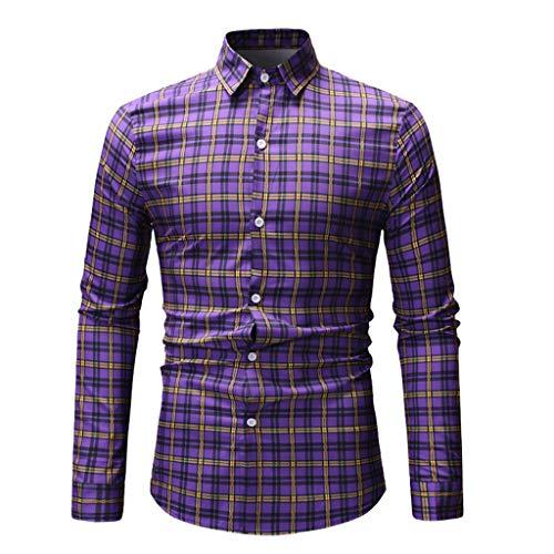 Shop Retro Bowling Shirt (ChallengE Hemd Herren Hemden Business Freizeithemd Männer Oberhemdenmens-Herbst-Art- Und Weisehemd-Beiläufige Lange Hülsen-Strand-Oberseite Lose Beiläufige Hemd-Bluse)
