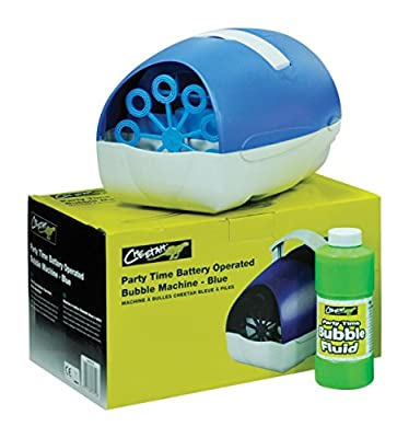 Cheetah Party Time Battery Operated Bubble Machine - Blue