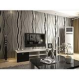 HANMERO Streif Kreis Punkt Hochwertig Modern Vliestapete für Schlafzimmer, Whonzimmer 0,53*10m Silber-weiß