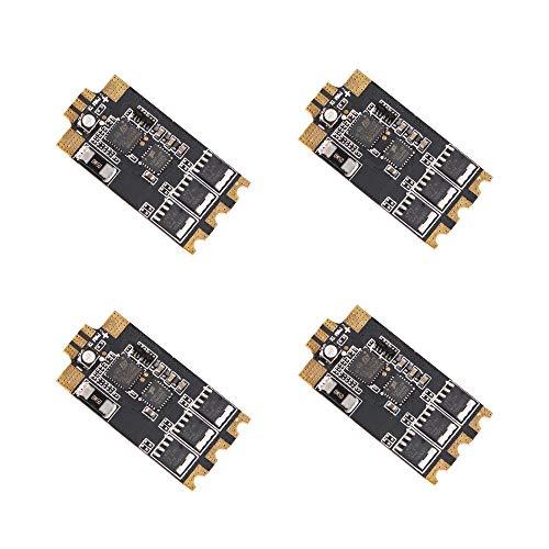 MakerStack 4PCS 35A ESC BLHeli_32 32Bit ESC V2 3-6S RGB LED Construit dans  Le capteur de Courant Dshot1200 Régulateur électronique de Vitesse pour FPV