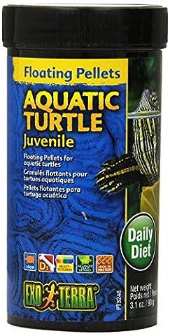 Exo Terra Floating Pellets Juvenile/ Aquatic Turtle Food, 90 g