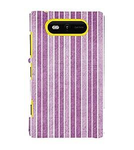 Purple Line Pattern 3D Hard Polycarbonate Designer Back Case Cover for Nokia Lumia 820 :: Microsoft Lumia 820