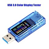 Innovateking-EU USB 3.0 Tester Multimetro 3.7-30V 0-4A USB Tester di Tensione USB Digital Tensione e Corrente Tester Meter Voltmetro Amperometro IPS Colore capacità Display Caricatore Detector AT34