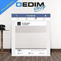 Oedim Photocall Facebook Personalizado para Eventos, Marco/Ventana Facebook