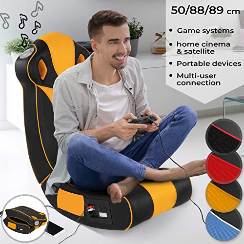 Soundsessel in diversen Farben - aus Kunstleder, zusammenklappbar, mit Lautsprecher, Surround und Subwoofer - Soundchair, Multimediasessel, Musiksessel, Musikstuhl, Gaming Chair,Music, Rocker