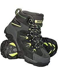 Mountain Warehouse Rapid Kids Boots - Waterproof Rain Boots, Durable Outsole Childrens Shoes, Mesh Upper Hiking Boots, Ankle Padding Boots -for Walking, Travelling