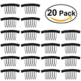 Tinksky 20pcs Wig Combs Steel Tooth Comb for Wig Caps Lace Cap