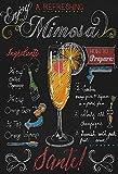 Cocktails Rezepte recipe Mimosa Champagne Orange alkohol schwarz hintergrund metal sign deko sign projekt blech
