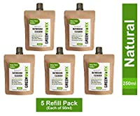 GREENWORX BATHROOM CLEANER REFILL PACK 2.5 LITRES (REFILL PACK OF 5) EACH OF 50 ML MAKES 500 ML Ready to use Greenworx Biotech Bathroom & Toilet Cleaner Natural Baby Safe Pet Friendly Eco-Friendly Non-Toxic Biodegradable No Harmful Chemicals sanitize and deodorize bathroom( TOTAL READY TO USE 2.5 LITRES)