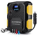 Luftkompressor, AUPERTO 10 Bar/150 PSI,12V Tragbar Reifen Aufblasgerät Zigarettenstecker für Reifen und Kugeln,mit Taschenlampe
