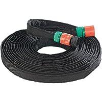 Royal Gardineer Bewässerungsschlauch: Perlschlauch Eco flach, inkl. Stopp-Ventil-Kupplungen, 12 m (Tropfenschlauch)