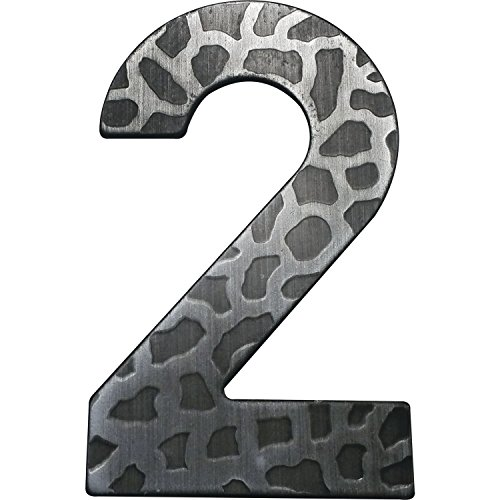 Hausnummer Ziffer '2'| Schmiedeeisen | antik | Höhe: 120 mm | 1 Stück | schwarz verzinkt