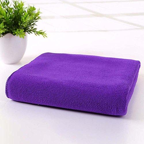 triecoworld Towel Extra Groß XL, Quick Dry, saugfähig, leicht, kompakt für Sport, Fitnessstudio, Schwimmen, Reise, Strand, Camping, Bad, Yoga und Pilates, violett