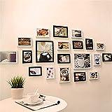 CQSMOO Mauer Skulptur Frame Foto Wand, europäischen Stil hängen Moderne Wohnzimmer kreative Portfolio Fotowand by (Farbe : Black+White)