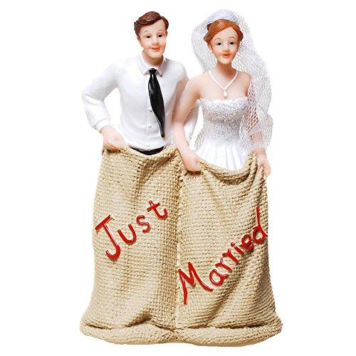 Dekoration Hochzeit Brautpaar Hochzeitspaar Tortenfigur Tortenaufsatz Cake Topper