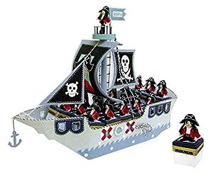 Disok- Expositor barco pirata + 16 cajitas, Multicolor (3053)
