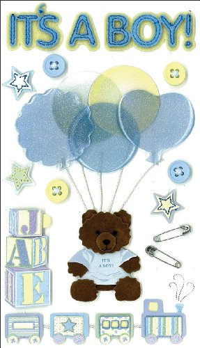 Jolee 's Boutique dreidimensionale Aufkleber, IT 'S A Boy