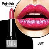 Malloom Rouge à lèvres Halo Hydratant Magique Rouge à lèvres Imperméable Gloss aux lèvres Produits de beauté