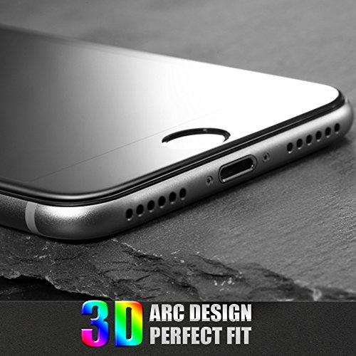 "iPhone 7 Plus Cristal Templado Protector de Pantalla, TEFOMATE® 3D Vidrio Templado Protector de Pantalla Completa Tempered Glass Screen Protector para Apple iPhone 7 Plus 5.5"" [3D Curvado] (Negro)"