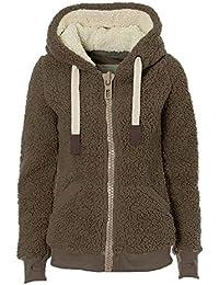Mujer Otoño Invierno Abrigo Elegante Manga Larga Ropa de Calle Frente Abierto Suave Cálido Peluche Felpa