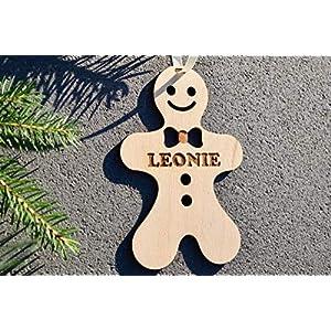 Weihnachtskugel mit Namen in Wunschfarbe – Lebkuchen-Männchen – Christbaumkugel Christbaumschmuck Weihnachtsbaumkugel