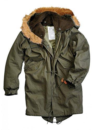 Alpha Industries Jacket Vintage Fishtail RF Olive