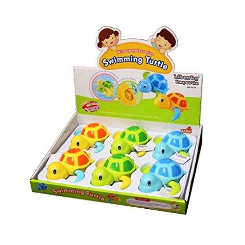 CESHUMD 6 Stück Float Pool Wind up Baby Bad Spielzeug Schwimmen Badewanne Badewanne Nette Schildkröte für Kinder Jungen Mädchen
