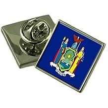 Select Gifts Nueva York insignia de solapa cuadro personalizado grabado
