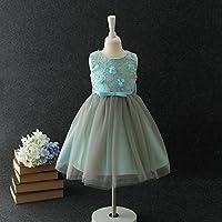 QTONGZHUANG Im großen Sommerkleid der Kinder Kleid der Neuen Kinder im flaumigen Rock des großen Jungensommerkleid-Mädchens