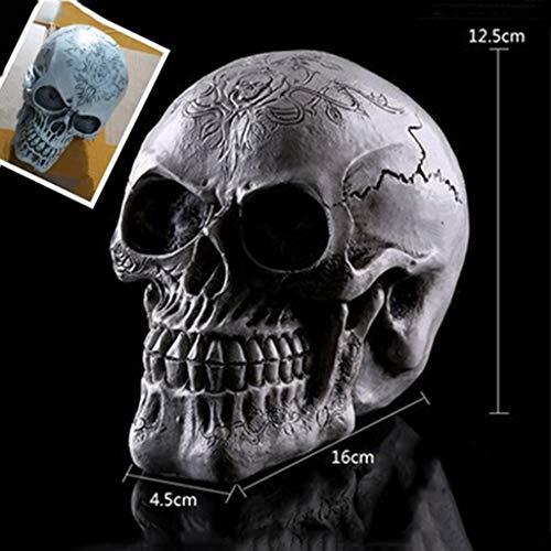 Sisyria Halloween Dekoration menschlicher Schädel in Originalgröße Replik realistische menschliches Skelett Gothic Dekor für Halloween Horror Nächte (Paare Kostüm Beängstigend)