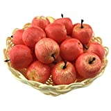 Gresorth 30 Stück Künstliche Lebensechte MINI Apfel Deko Gefälschte Früchte