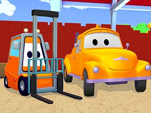 Der Gabelstapler und Tom der Abschleppwagen