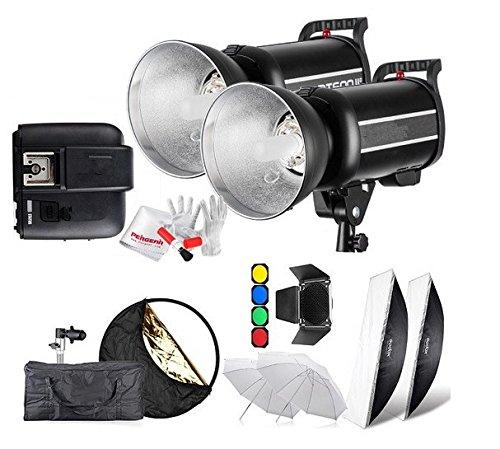 Preisvergleich Produktbild Gowe 600Ws GN761/8000s HSS Studio Flash Strobe Beleuchtung Kit & x1t Transmitter + Softbox Scheunentor + Wabenblende + Filter mit X1S für Sony