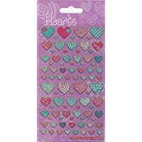 Paper Projects Pattern Hearts Sparkle Stickers