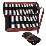 Hipiwe 72 Set di Matite Pittura Matite Colorate con Astuccio Custodia Tela Matita Wrap per Disegno Artistico, Pittura,Giardino Segreto immagine