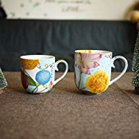 njhswlti Taza de té de Porcelana de la Serie Real Europea Porcelana pequeña/Taza/