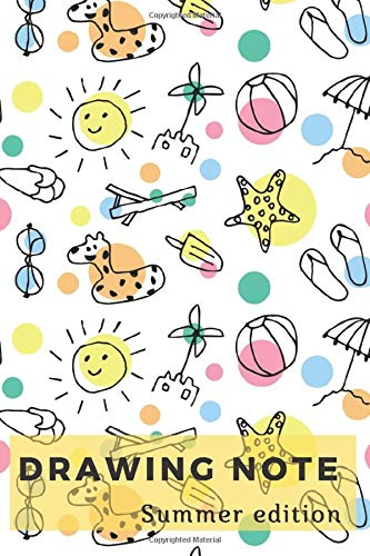 Drawing Note: Summer Edition, Note for Kids, Summer sketch, Handy Diary Writing, Travel Note, College Ruled, Bulk for Travelers, pulls notebook, ... tool  (110 Pages, Frame Blank Pages, 6 x 9)