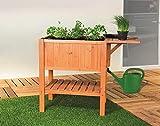 Hochbeet'Floralis', Tanne FSC®-zertifiziert Gemüsebeet inklusive wasserdichter Folie, Pflanzenkasten für Gemüse und Kräuter im Garten, auf der Terrasse oder dem Balkon, Füllvolumen ca. 80 Liter