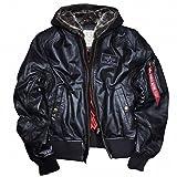 Alpha Industries MA-1 D-Tec Leather, Größe:3XL;Farbe:black