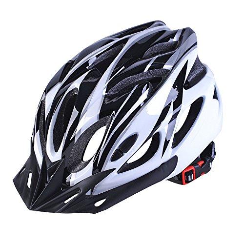 Qarape 200g Ultra Light Outdoor Fahrradhelm mit Visier Schild Atmungsaktiv Komfort Leichtgewicht Fahrradhelm Einstellbare Sicherheit Schutz Fahrradhelme Highway & Mountain Road Reithelm (Schaum-visier)