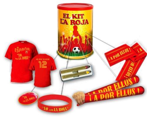 anduelas Bote Kit de la Roja - Camiseta, pin, pulsera, pinturas, aplaudidores...