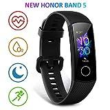 HONOR Band 5 Smartwatch Armband mit Pulsmesser,Wasserdicht IP68 , Schlafmonitor Fitness Tracker Schwarz