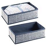 mDesign contenitori in plastica portagiochi - Ideali Come scatole per Giocattoli, Pannolini o salviettine - Portagiochi in Polipropilene