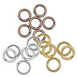 sharplace 18Stück Großhandel Mixed Farbe Gold Bronze Silber Weiß Rund Spring Snap Haken Karabiner Clips Schlüsselanhänger zum Aufhängen Ergebnisse