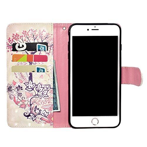 iPhone 6s Custodia,iPhone 6 4.7 Custodia in Pelle,Slynmax 3D Modello Copertura Folio Flip Cover PU Wallet Case Per iPhone 6/6s Protezione Caso Ultra Sottile Colorato Protettivi Covers Chiusura Magneti Modello #6