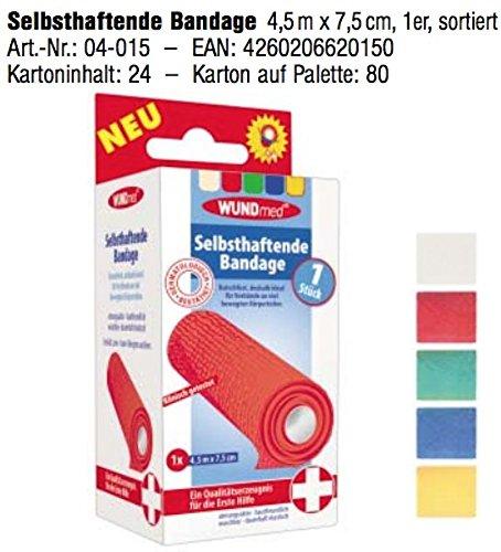 WUNDmed 04-015 selbsthaftende Bandage 4,5mx7,5cm color, Color:grün