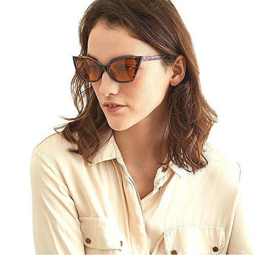 Honestyi Frauen Männer Vintage Clout Cat Eye Unisex Sonnenbrille Rapper Grunge Brille Eyewear 92142 mit quadratischer