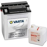 Varta 549662 Powersports Freshpack Batería de Motocicleta, 12V, 14 Ah, YB14L-A2